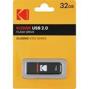 Kodak Flash Drive, Classic K102 Series, USB 2.0, 32 GB