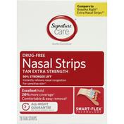 Signature Care Nasal Strips, Drug-Free, Tan, Extra Strength