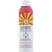 Bare Republic Sunscreen Spray, Mineral, Citrus Cooler, Broad Spectrum SPF 30