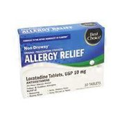 Best Choice Non Drowsy Allergy Relief Loratadine Tablets 10 Mg