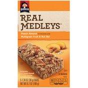 Quaker Real Medleys Peach Almond Multigrain Fruit & Nut Bars