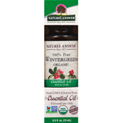 Nature's Answer Essential Oil, Organic, Wintergreen
