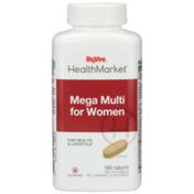 Hy-Vee Healthmarket, Mega Multi For Women For Health & Lifestyle Multivitamin & Multimineral Supplement Tablets