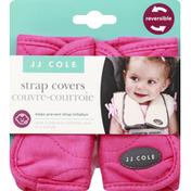 JJ Cole Strap Covers, Sassy Pink, Wave Stitch