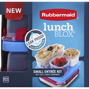 Rubbermaid Entree Kit, Small, with Side & Snack Containers