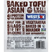 WestSoy Tofu, Baked, Asian, Sweet Teriyaki