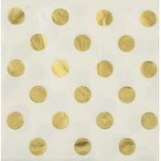 Amscan Luncheon Napkins, Metallic Dots, Gold