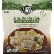 First Street Ravioli, Spinach & Cheese, Jumbo