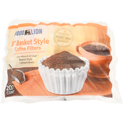Food Lion Coffee Filters, 8 Inches, Basket Style