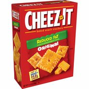 Cheez-It Baked Snack Cheese Crackers, Made with 100% Real Cheese, Reduced Fat Original