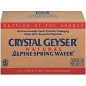 Crystal Geyser Alpine Spring Water Alpine 1 L Natural Spring Water