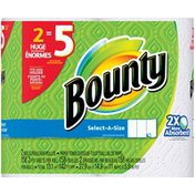 Bounty Select-A-Size, White, 2 Huge Rolls = 5 Regular Rolls  Paper Towels