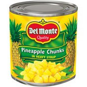 Del Monte Pineapple, Chunks, In Heavy Syrup