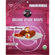 WrawP Veggie Wraps, Organic, Cinnamon & Raisin, Energy-Morning