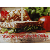 Poly King Sandwich Picks, Wooden