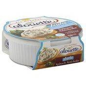 Alouette Spreadable Cheese, Soft, Light, Spinach Artichoke