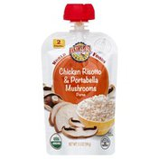 Earth's Best Baby Food Puree, Chicken Risotto & Portabella Mushroom, 2, Pouch