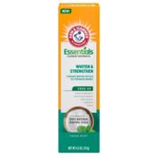 Arm & Hammer Essentials Whiten & Strengthen Fluoride Toothpaste-One Tube, Fresh Mint- 100% Natural Baking Soda- Fluoride Toothpaste