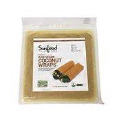 Sunfood Superfoods Turmeric Raw Vegan Coconut Wraps