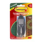 3M Command Damage-Free Hanging Outdoor Graphite Hook