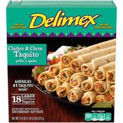 Delimex Chicken & Cheese Large Flour Taquitos
