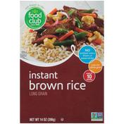 Food Club Long Grain Instant Brown Rice