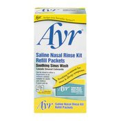 Ayr Saline Nasal Rinse Kit, Refill Packets