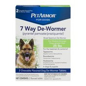 PetArmor For Dogs 7 Way De-Wormer For Medium & Large Dogs - 2 CT