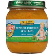 Earth's Best Stage 3 Chunky Blend Tender Chicken & Stars Organic Baby Food