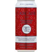 Cascade Ice Sparkling Water, Strawberry Lemonade, Caffeinated