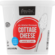 Essential Everyday Cottage Cheese, Large Curd,