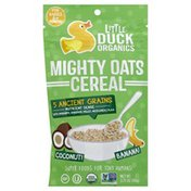 Little Duck Organics Cereal, Mighty Oats, Coconut! Banana! For Babies 6+ Months