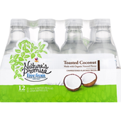 Nature's Promise Flavored Water, Toasted Coconut, Unsweetened, 12 Pack
