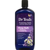 Dr. Teal's Foaming Bath, Sleep Bath with Melatonin & Essential Oils