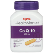 Hy-Vee Healthmarket, Co Q-10 400 Mg Heart Health Support Dietary Supplement Vegetarian Capsules