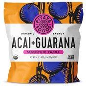 Pitaya Foods Organic Acai Energy Smoothie Packs