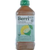 Berri Lyte Electrolyte Solution, Organic, Lemon-Lime Flavor, Plant-Based