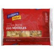 Shoppers Value Noodles, Egg, Enriched, Extra Wide
