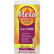 Metamucil , Natural Psyllium Husk Powder Fiber Supplement, Plant Based,