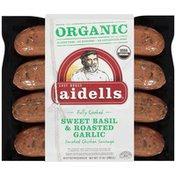 Aidells Organic Sweet Basil & Roasted Garlic Smoked Chicken Sausage