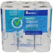 Simply Done Seasonal Decor Paper Towels Rolls