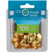 Simply Done Brass Thumb Tacks
