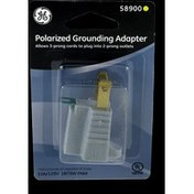 GE Polarized Grounding Adapter Plug, Gray