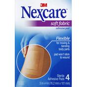 Nexcare Adhesive Pads, Soft Fabric