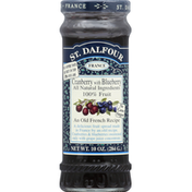 St. Dalfour Fruit Spread, Deluxe, Cranberry with Blueberry