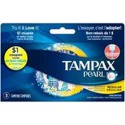 Tampax Pearl Regular Unscented Tampons