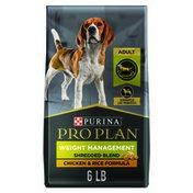 Purina Pro Plan Weight Management Dog Food, Shredded Blend Chicken & Rice Formula