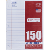 Norcom Notebook Paper, Wide Ruled