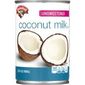 Hannaford Food Lion Coconut Milk, Unsweetened, Can