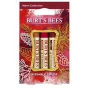 Burt's Bees Kissable Warm Color Collection Holiday Gift Set
